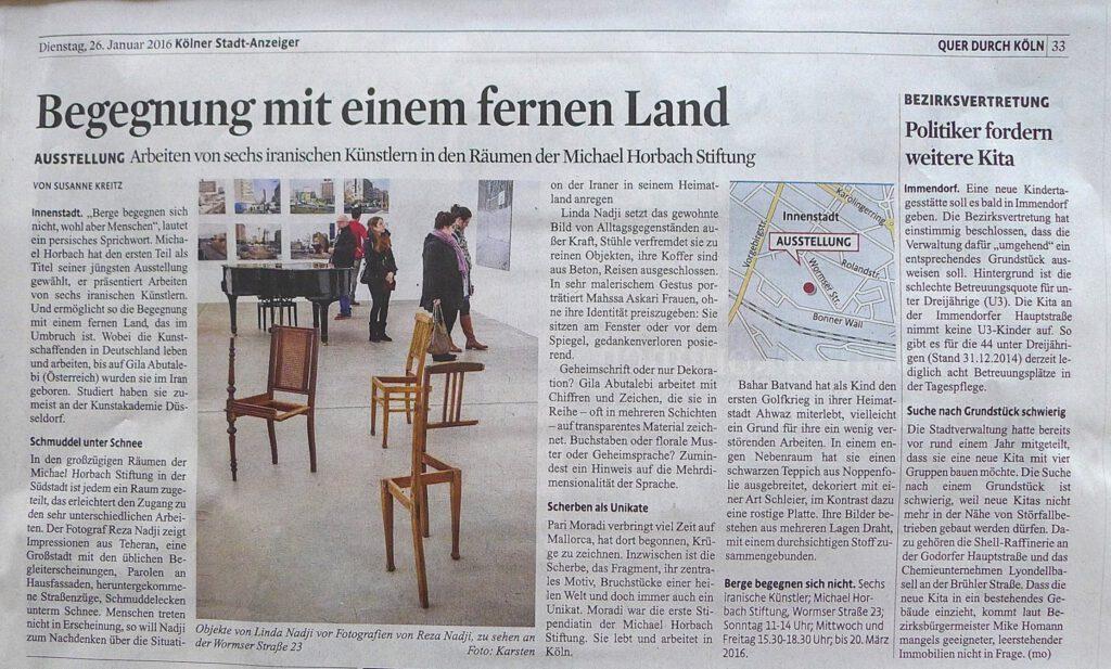 Kölner StadtAnzeiger 26012016