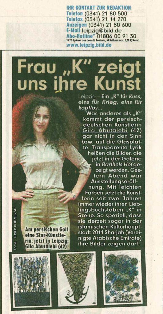 Presse Bildzeitung Leipzig 2014