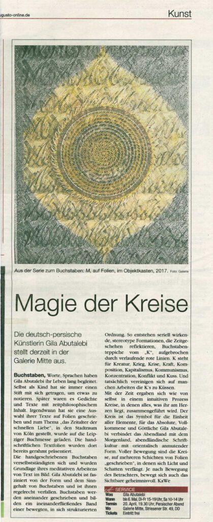 Presse Dresden Galerie Mitte 2017