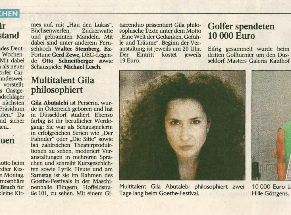 Presse Rheinische Post 2000