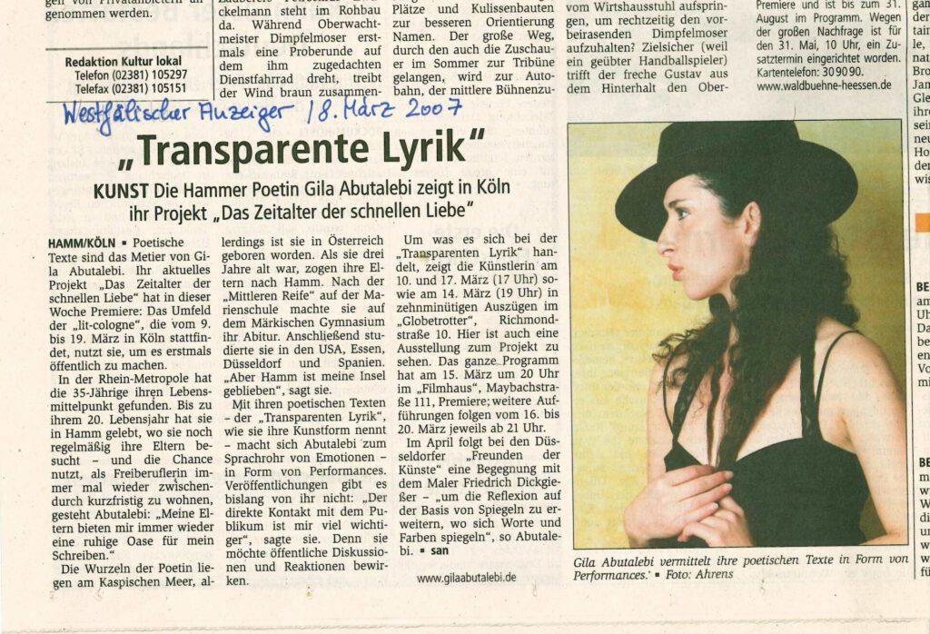 Presse Westfälischer Anzeiger DZDSL 2007